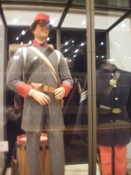 Uniforms worn during the Civil War.