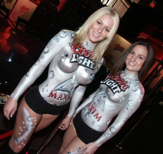 These women have nothing to do with my point beyond the body paint which does apply, so technically there is no reason why I should not use them.  :)