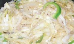 Cabbage, Bell Pepper, Onions