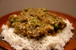 Eggplant Bharta with Peas Recipe