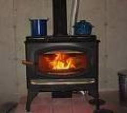 one of many styles of wood burning stoves