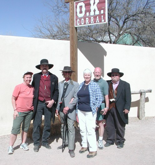 We Three Tourists at the OK Corral With the Earp Brothers and Doc Holliday