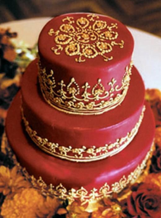 Spanish Lace Wedding Cake