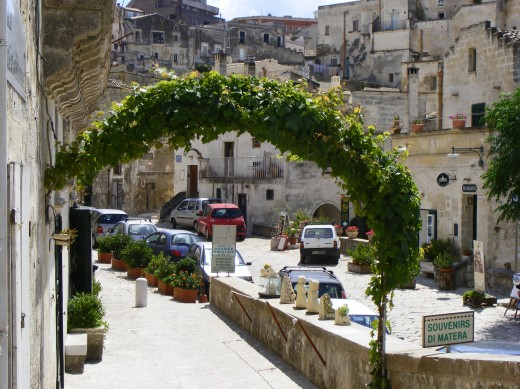 A street in Matera, Italy