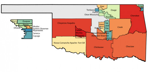 Map of Oklahoma Tribal Statistical Area, 2012.