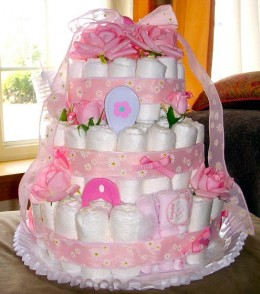 Baby Shower Diaper Cake How To