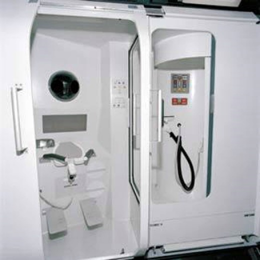 A Toilet onboard the International Space Station