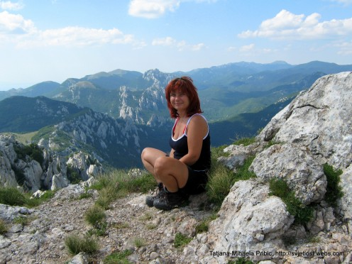 Me, exchausted but so happy on that hot summer day - view from Kiza on Beaver`s Cliffs (Dabarski kukovi)