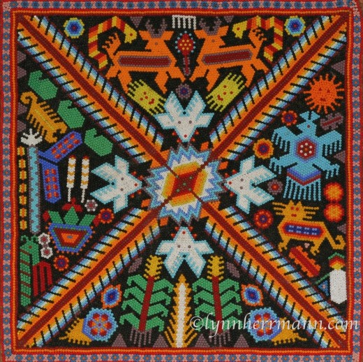 Huichol Indian bead art, available on your Mexico travel destinations.