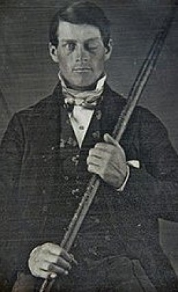 Phineas Gage and the gunpowder tamper.
