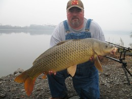 Very nice color on this giant carp.