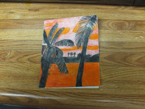 This tropical sunset image was created on a quarter fold card.