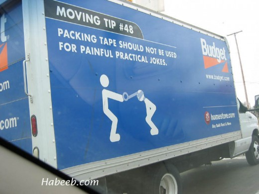 Removal tips and truck rental funnies
