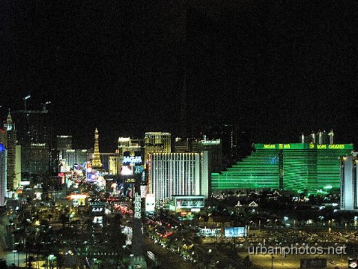 Night view from Mandalay Bay