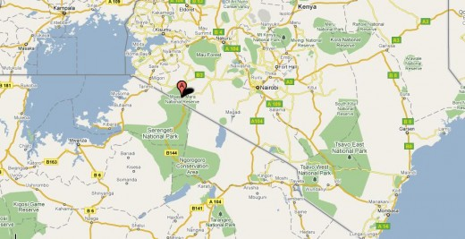 Masai Mara Map. Image credit: Google Map