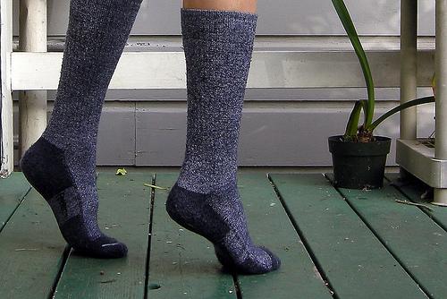 Bamboo/wool socks by SuperFantastic.