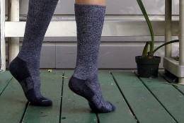 Bamboo/wool socks by SuperFantastic.