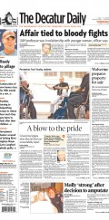 Bold headlines, various fonts and great photography help make the Decatur Daily's news design a win for readers in Alabama.