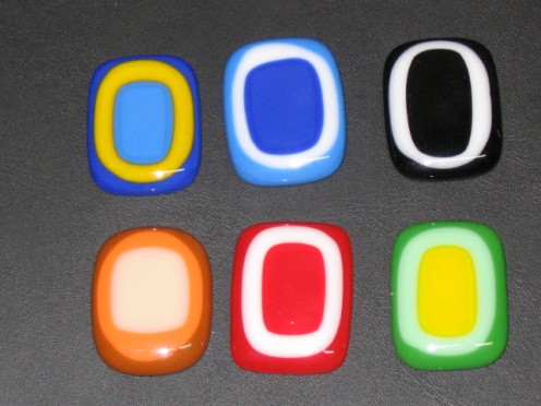 Simple Fused Glass Pendants
