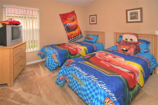 My Walt Disney World vacation home cars themed room is a big hit with guests.