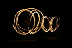 Fire dancing is a frequent entertainment in Mexico (public domain).