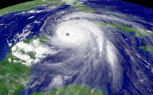Noaa shot of hurricane