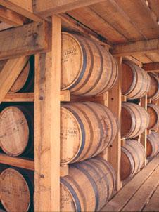 White Oak barrels are use to ferment Bourbon
