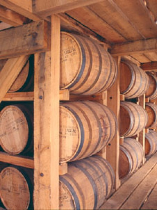 White Oak barrels are use to ferment Bourbon