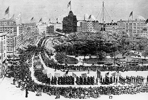 The First Labor Day Parade, New York City, September 5, 1882