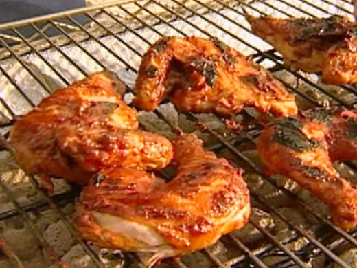 Barbecued Chicken marinated in Bourbon
