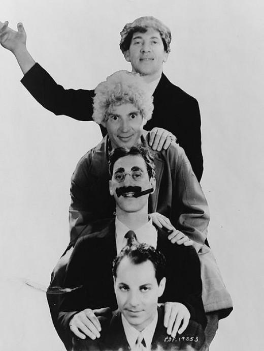 Chico, Harpo, Groucho, and Zeppo