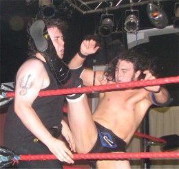 Pro wrestling is no joke! It can seriously hurt, just ask this guy who got booted in the face!