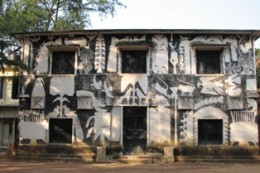 This building with artistic exterior @ Kalabhavan houses classes