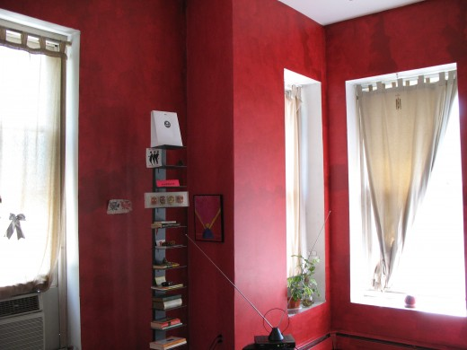 My red living room using zero VOC paint