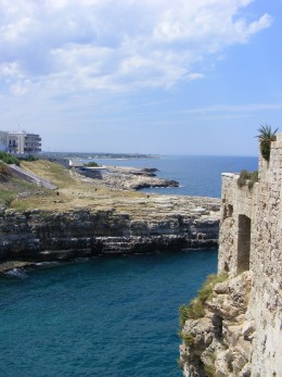 Polignano a Mare shore in Puglia, Italy