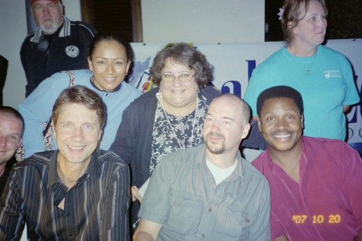 Me with Acoustic Alchemy.  I am smack in the middle.