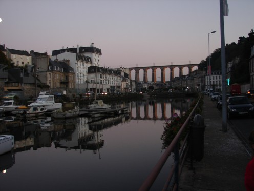 The viaduct at dusk