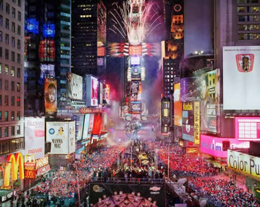Times Square on New Years Eve, New York