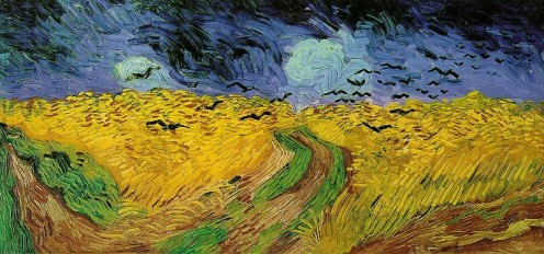 Field of Wheat with Crows by Van Gogh (public domain, copyright expired)