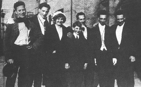 Young Marx Brothers and parents.