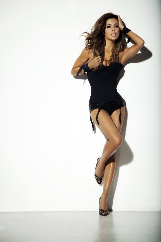 Eva Longoria in lingerie in GQ