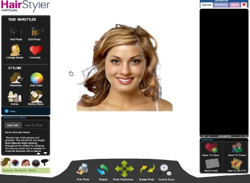your photograph taken, then uploaded to find your new virtual hairstyle.