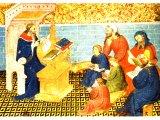 Solomon Dictating His Sayings.