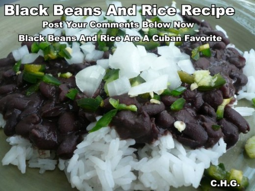 This recipe for Black Beans and Rice is really delicious. It is a authentic recipe that was taught to me in Cuba. Black Beans And Rice are very popular in Cuba