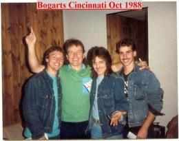 Backstage with Mark at Bogarts in Cincinnati October 1988