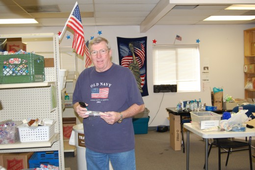 This is Roger.  He's our purchasing guy, as well as an all-around worker.  He does the post office runs each week, as well as picking up donations from drop sites.