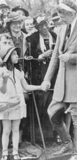 Eleanor Roosevelt in riding attire