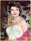 Jacqueline Kennedy in strapless ballgown
