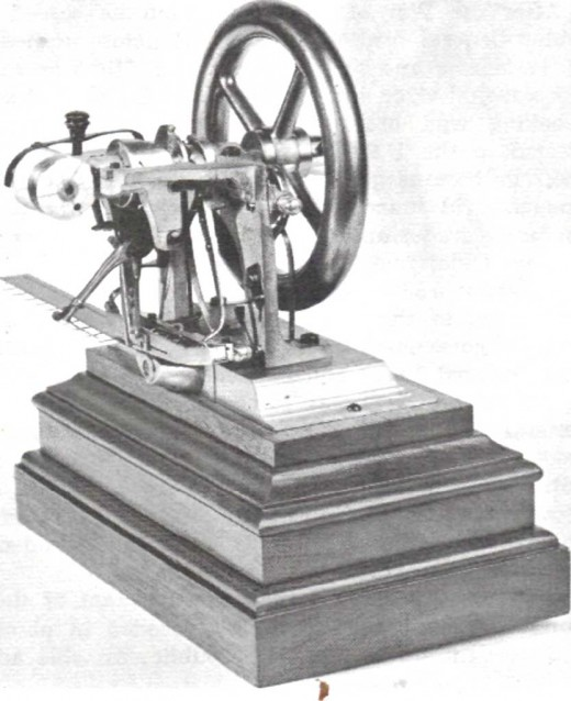 Elias Howe's first patented sewing machine