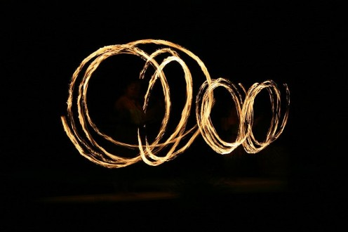 Fire dancers (public domain)